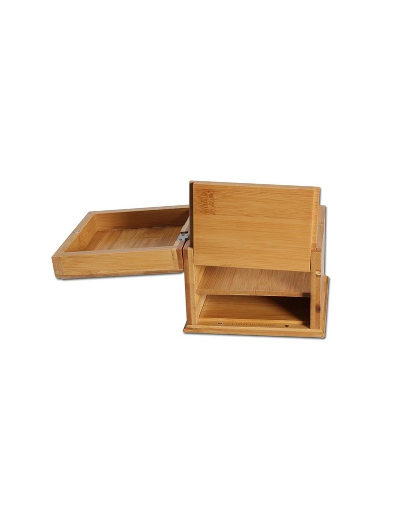 Bamboo Rolling Box With Secret Tray