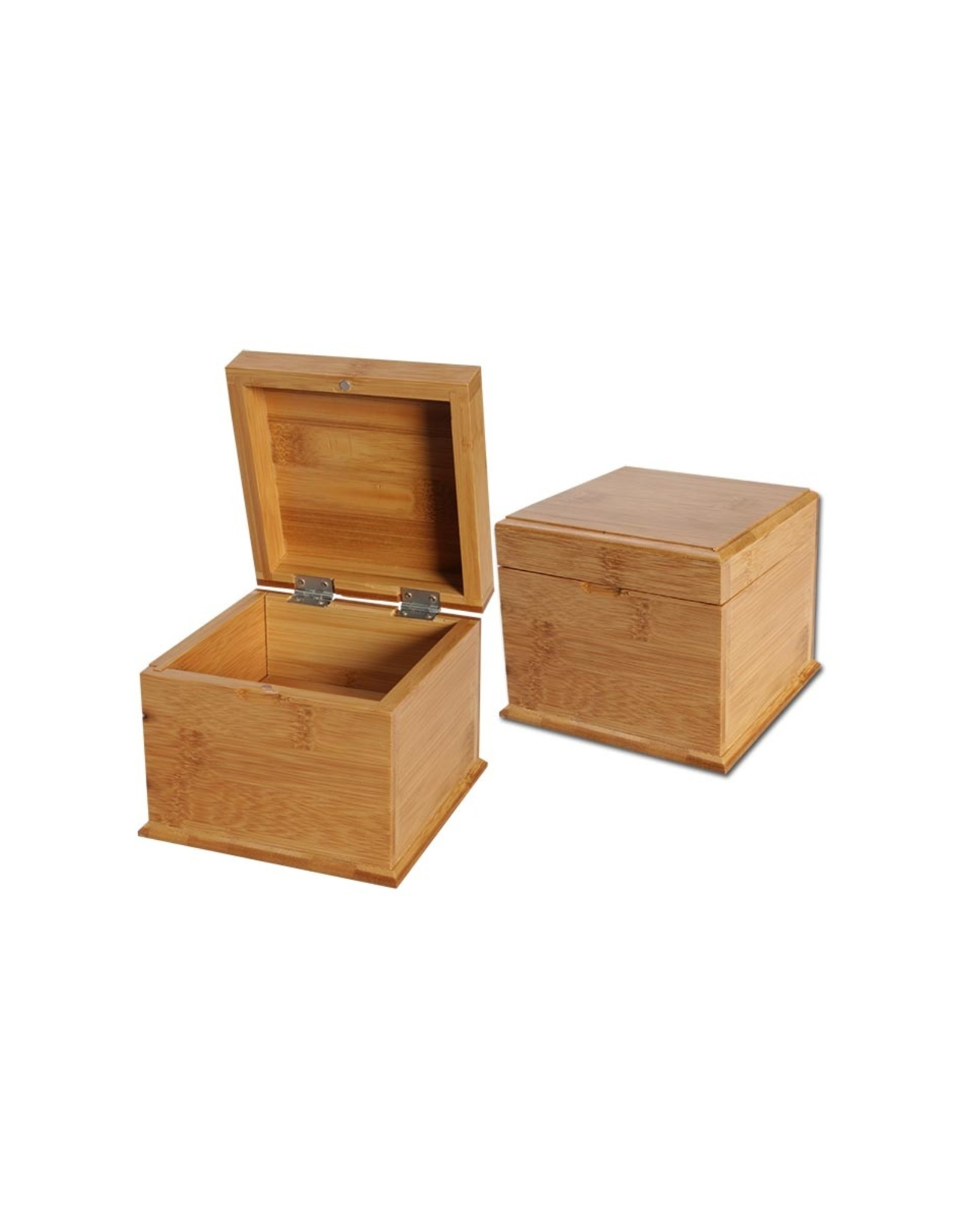 Black Leaf Bamboo Rolling Box With Secret Tray