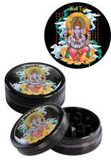 Black Leaf Black Leaf 'Ganesha' Grinder Black (2 parts)