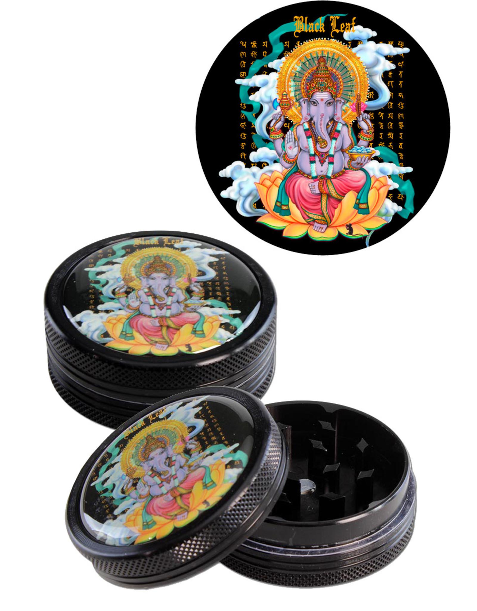 Black Leaf Ganesha' Grinder Black (2 parts)
