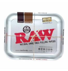 RAW RAW Silver Metalic Tray Large