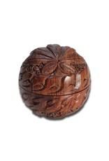 Wooden grinder 2 parts bol