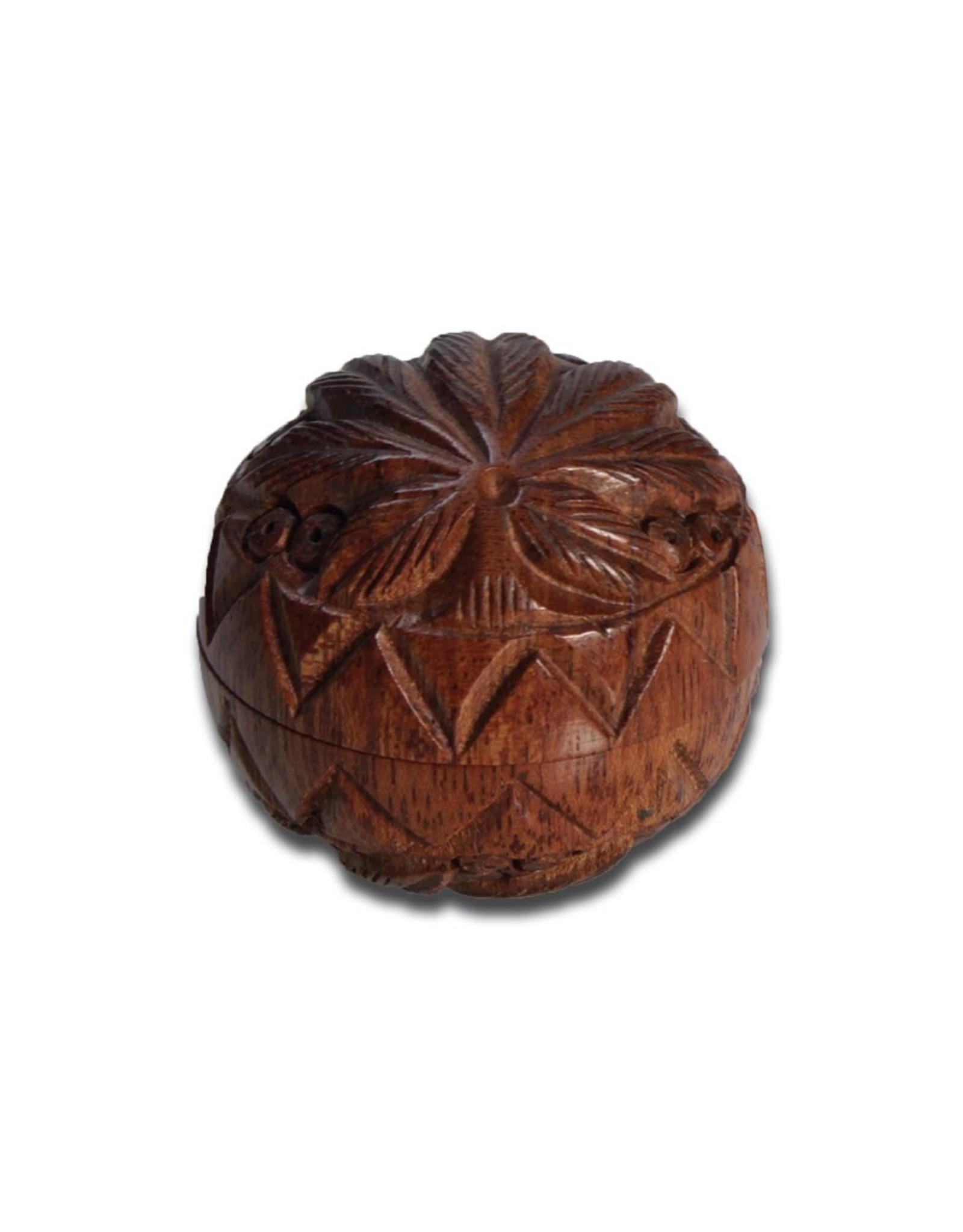 Black Leaf Rosewood grinder 2 parts