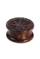 Black Leaf Rosewood grinder flat 2 parts