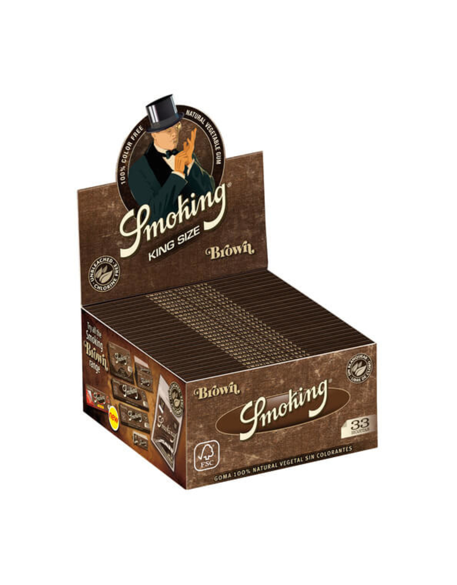 Smoking Box Papers Smoking Brown