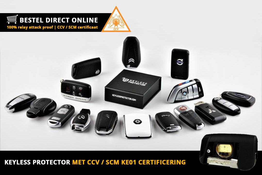 Certificering KE01 keyless protector