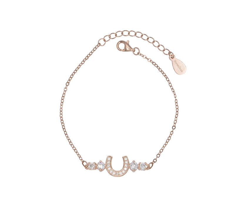 MULTISTONE HORSESHOE BRACELET ROSE GOLD