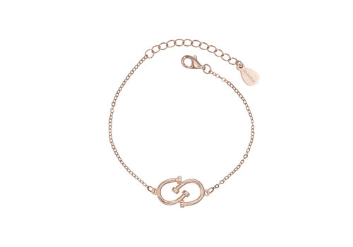 DOUBLE HORSESHOE BRACELET ROSE GOLD