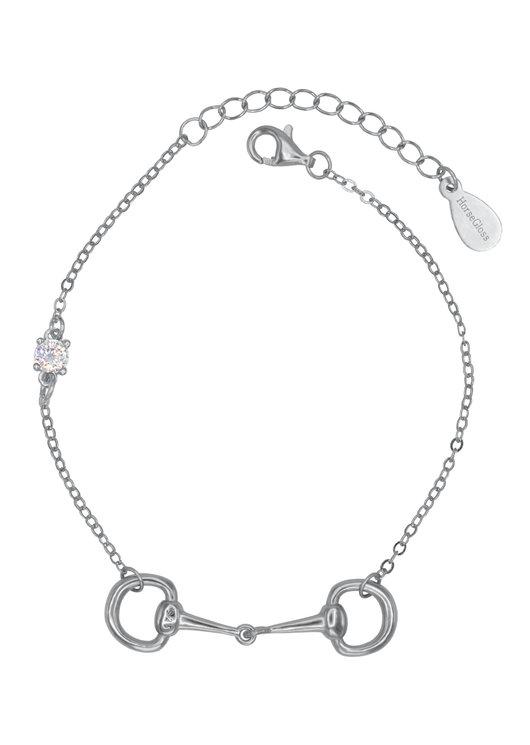 JANE - SILVER DIAMOND BIT BRACELET