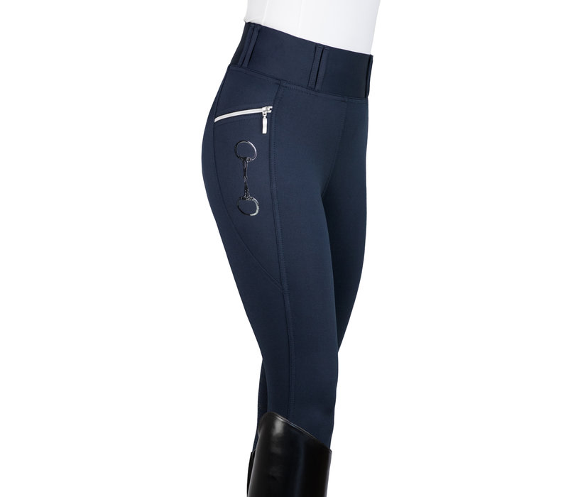 NAVY - KYLIE LEGGINGS FULL SEAT SILICONE