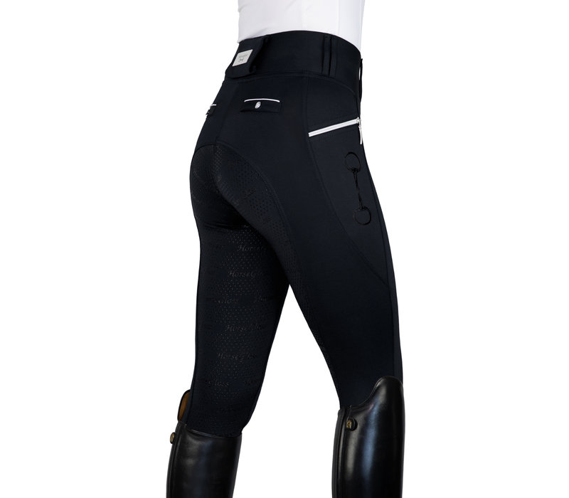 BLACK - KYLIE LEGGINGS FULL SEAT SILICONE