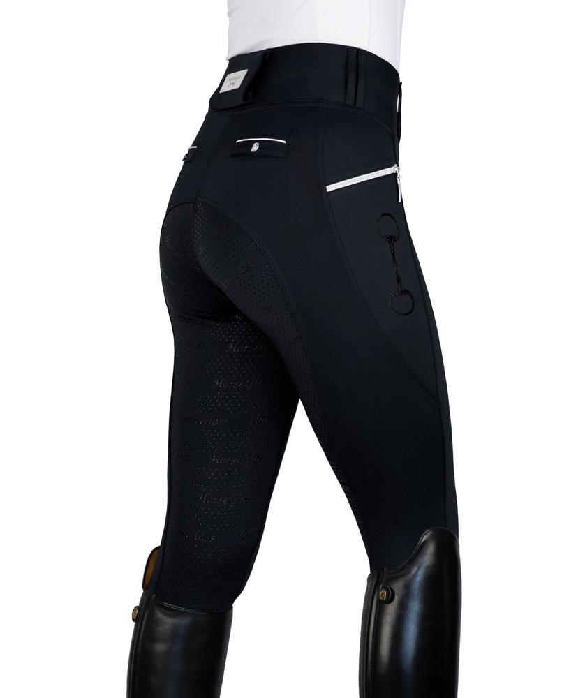 BLACK - KYLIE LEGGINGS FULL SEAT SILICONE