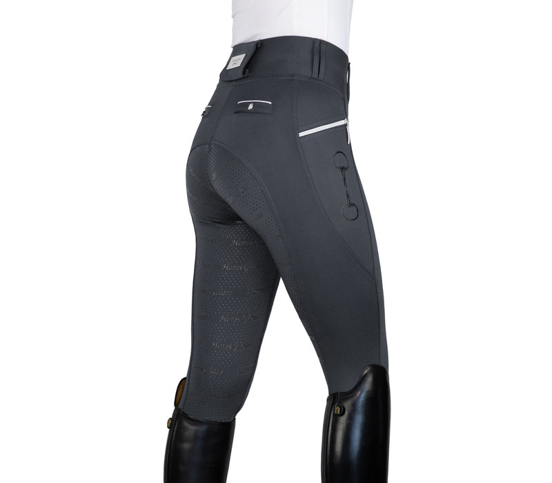 GREY - KYLIE LEGGINGS FULL SEAT SILICONE