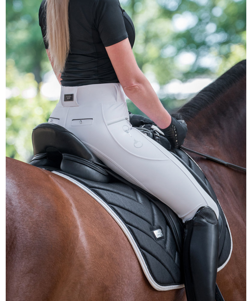 WHITE - KYLIE LEGGINGS FULL SEAT SILICONE