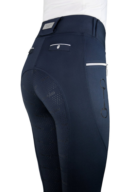 KYLIE - NAVY LEGGINGS FULL SEAT SILICONE
