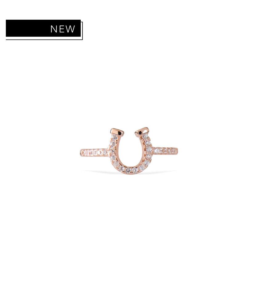 XENA - ROSE GOLD HORSESHOE RING