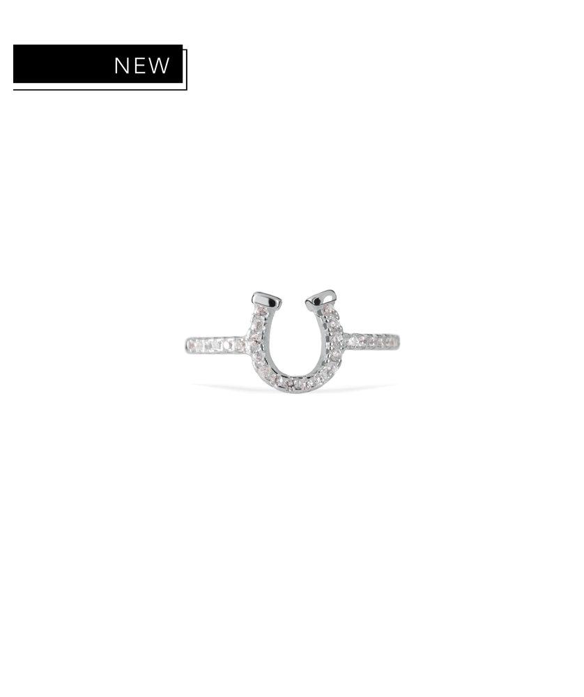 XENA - SILVER HORSESHOE RING