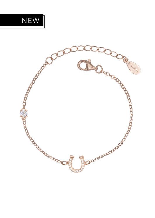 LILY - ROSE GOLD DIAMOND HORSESHOE BRACELET