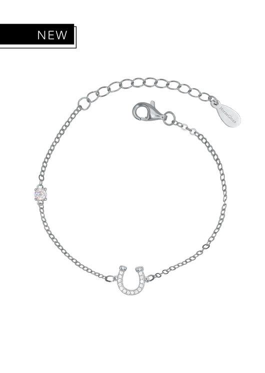 LILY - SILVER DIAMOND HORSESHOE BRACELET