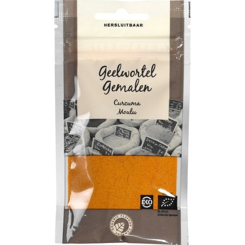 Organic Flavour Company Geelwortel  (Kurkuma) Gemalen 23 gram