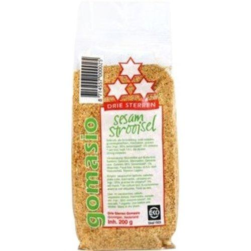 Drie Sterren Gomasio (Sesam Strooisel) 200 gram