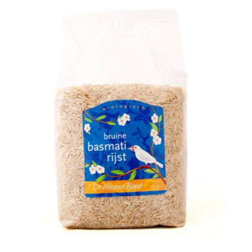 De Nieuwe Band Bruine Basmati Rijst 500 gram