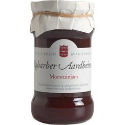 Moestuinjam Rabarber Aardbeien 330 gram