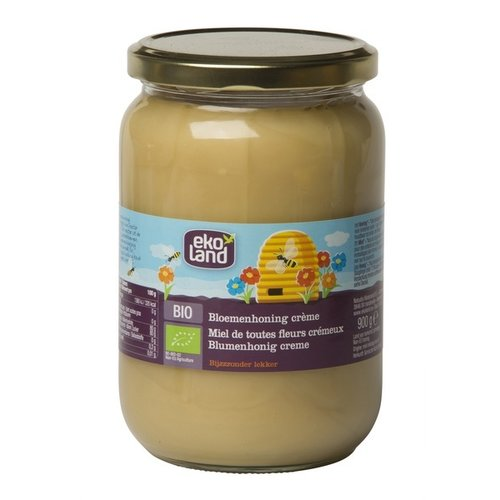 Ekoland Bloemenhoning Crème 900 gram