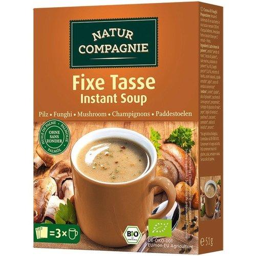 Natur Compagnie Champignonsoep 1-kops Instant 3 zakjes