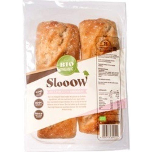 Slooow Ciabatta Broodje 4 stuks