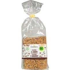 Crackers klassiek 3- zaden 200 gram