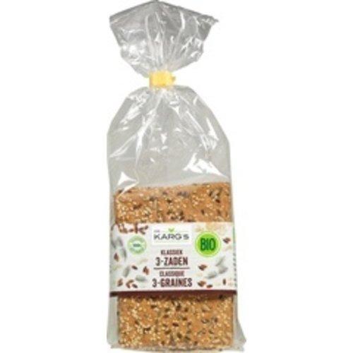 Dr. Karg's Crackers klassiek 3- zaden 200 gram
