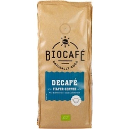 Biocafe Filterkoffie Cafeïnevrij 250 gram
