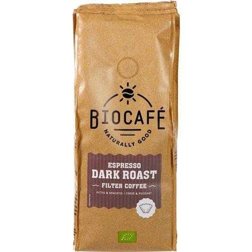 Biocafe Filterkoffie Espresso Dark Roast 250 gram