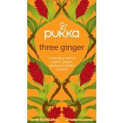 Kruidenthee Three Ginger 20 zakjes