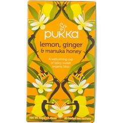 Kruidenthee Lemon, Ginger & Manuka Honey 20 zakjes