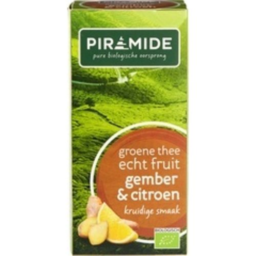 Piramide Groene Thee Gember & citroen  20 zakjes