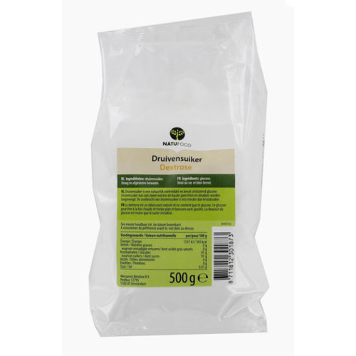 Natufood Druivensuiker (Dextrose) 500 gram