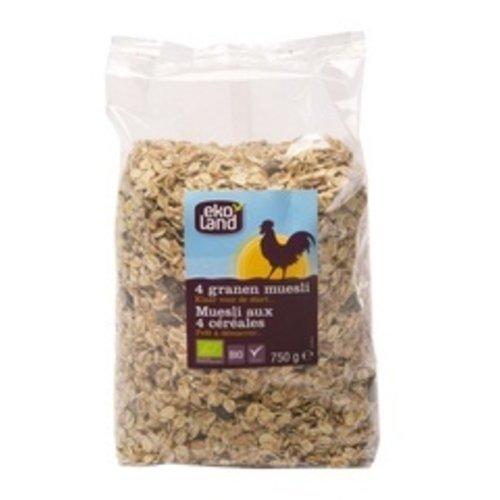 Ekoland 4-granen Muesli 750 gram