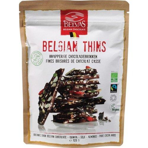 Belvas Belgian Thins Puur Quinoa-Goji 120 gram