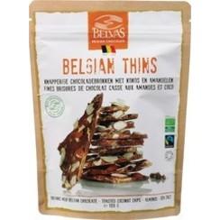 Belgian Thins Kokos-Amandelen 120 gram