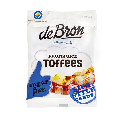 de Bron Fruitjuice Toffees 90 gram