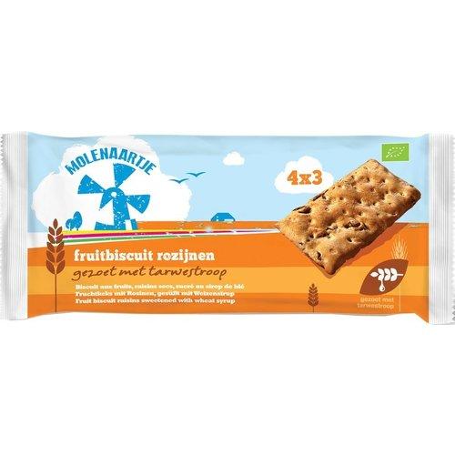 Molenaartje Fruitbiscuit Rozijnen 4x3 biscuits