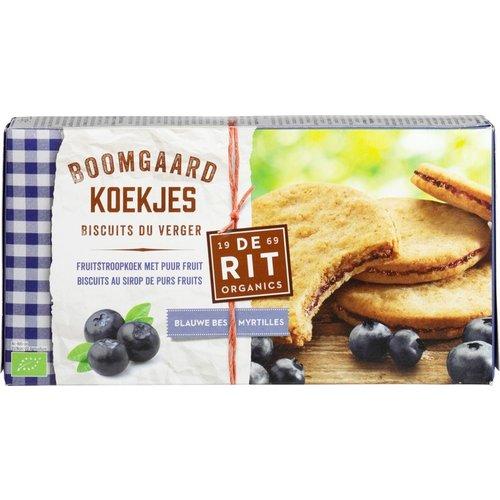 De Rit Boomgaardkoekjes Blauwe Bes 175 gram