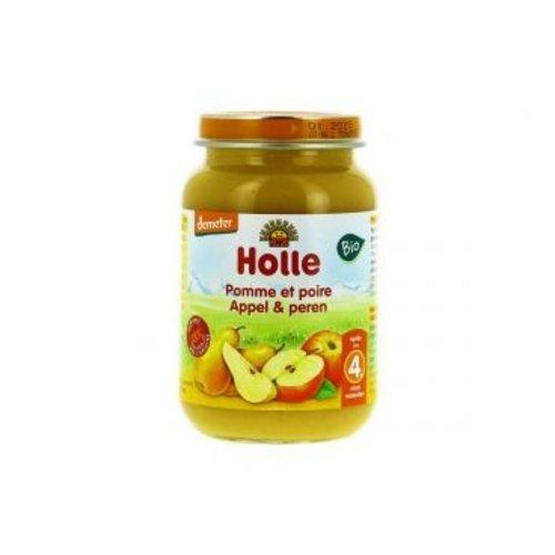 Holle Babyvoeding Appel & Peren 190 gram (>4 maanden)