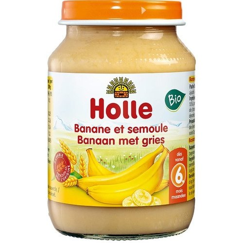 Holle Babyvoeding Banaan met Gries  190 gram (>6 maanden)