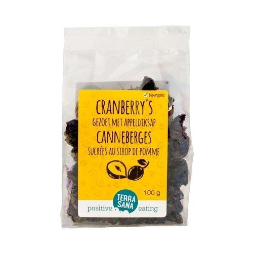 TerraSana Gedroogde Cranberries 100 gram