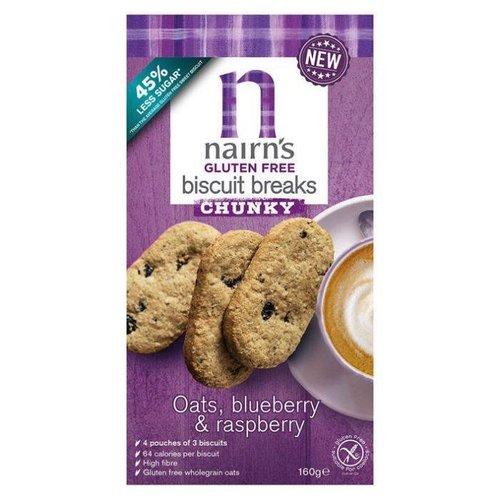 Nairn's Biscuit Breaks Havermout, Blauwe Bes & Framboos 160 gram