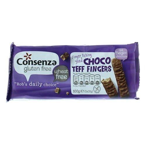Consenza Choco Teff Fingers 100 gram