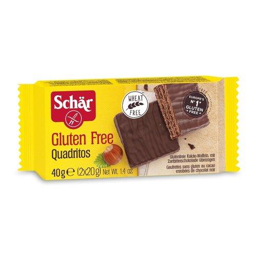 Schär Cacao Wafels met Pure Chocolade 40 gram